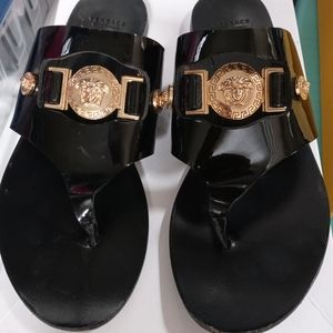 Versace patent leather sandals